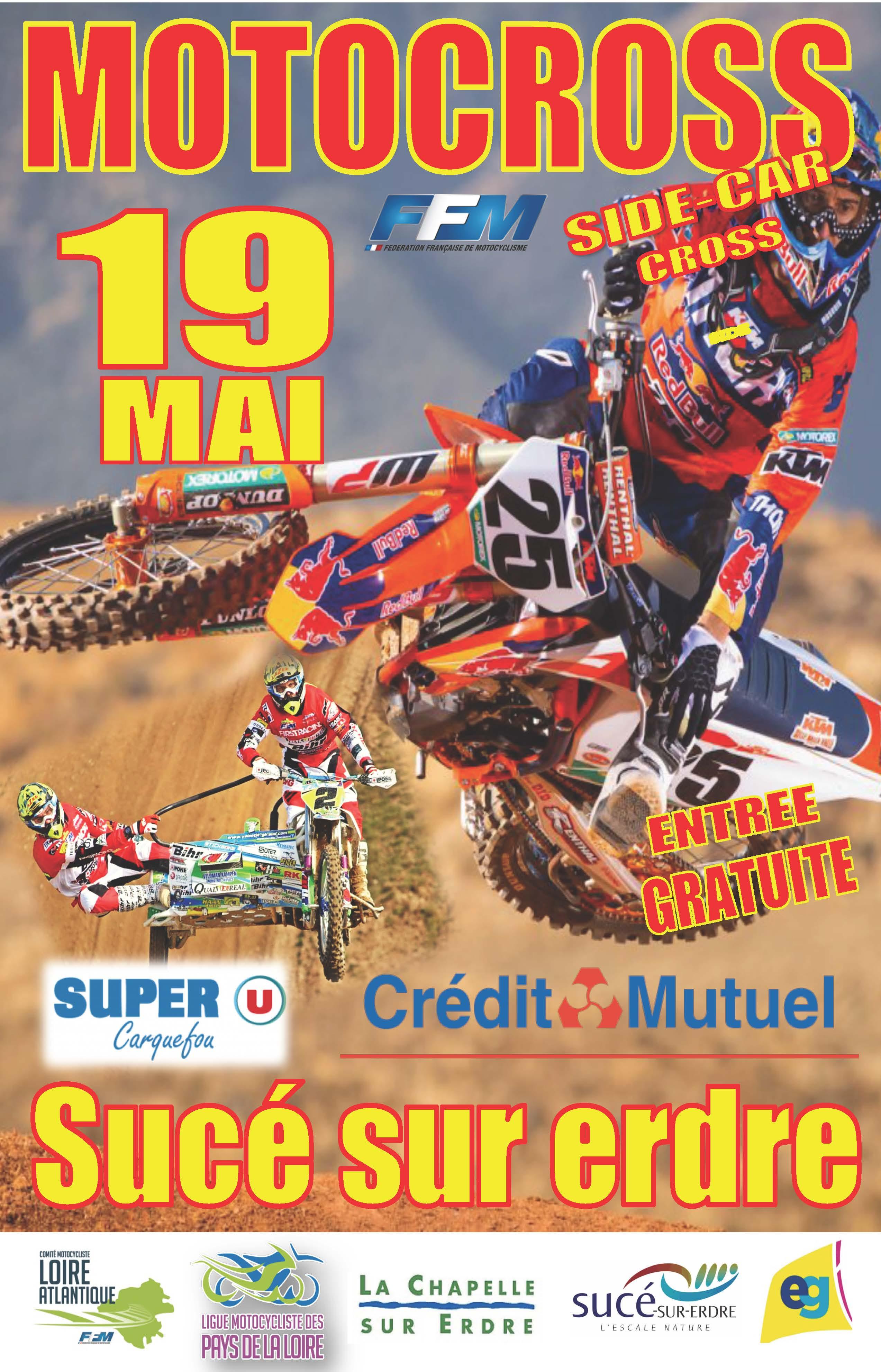 Info Motocross - épreuve Sucé sur Erdre (44) 19 mai