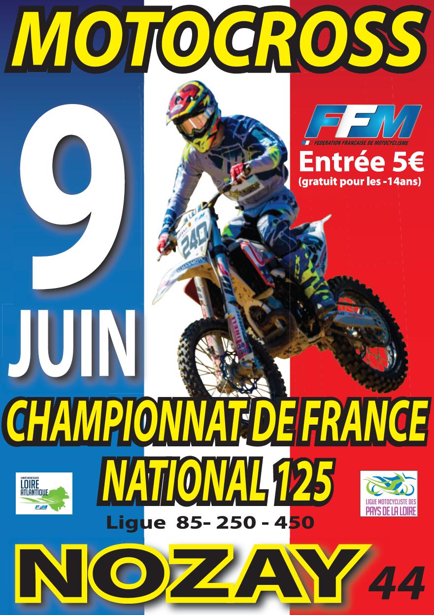 Infos Motocross - épreuve Nozay (44) 9 juin