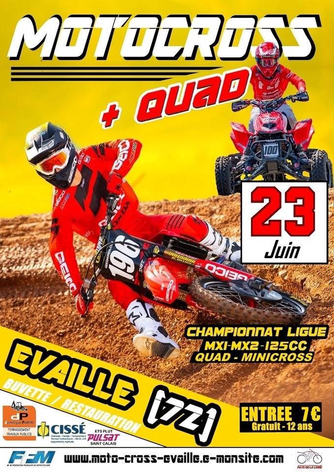 Info Motocross - épreuve Evaillé (72) 23 juin