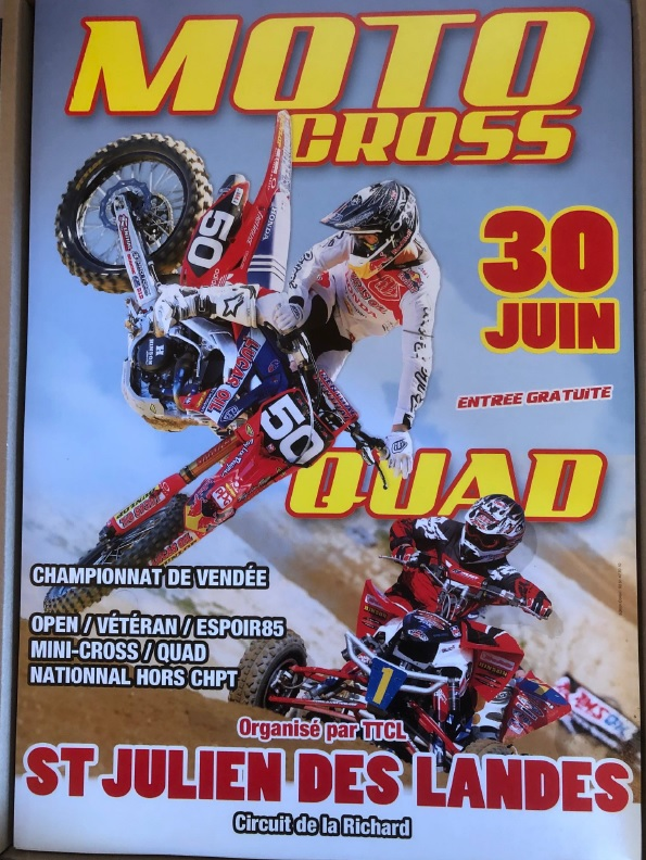 Info Motocross - épreuve Saint Julien des Landes (85) 30 juin