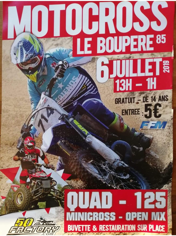 Info Motocross - épreuve Le Boupère (85) 6 juillet