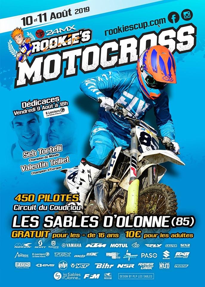 Info Motocross - Rookie's Cup Les Sables d'Olonne (85) 10 et 11 août