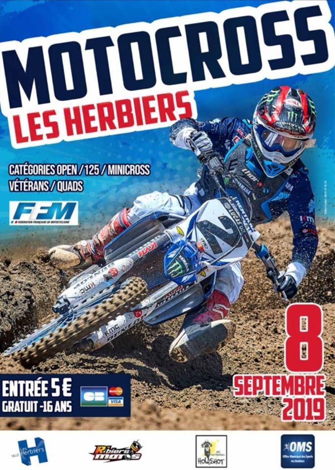 Info Motocross - épreuve Les Herbiers (85) 8 septembre