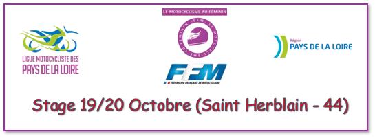 Info Ligue - Journée Féminines 19 et 20 octobre Saint Herblain (44) INSCRIPTION AVANT LE 15 SEPTEMBRE