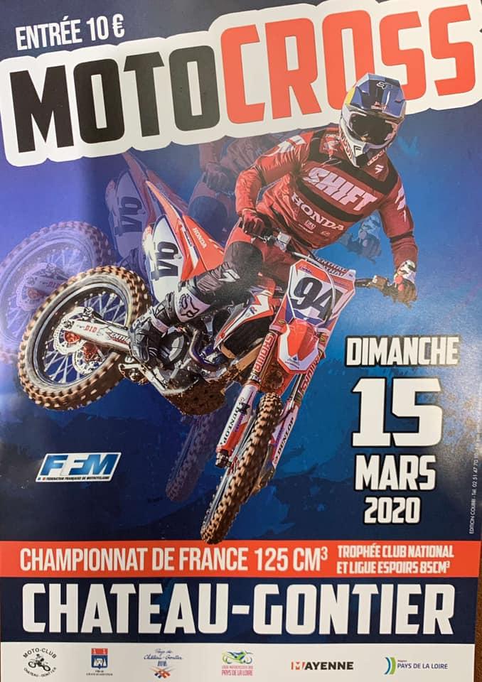 Infos Motocross - Epreuve Château Gontier (53) 15 mars