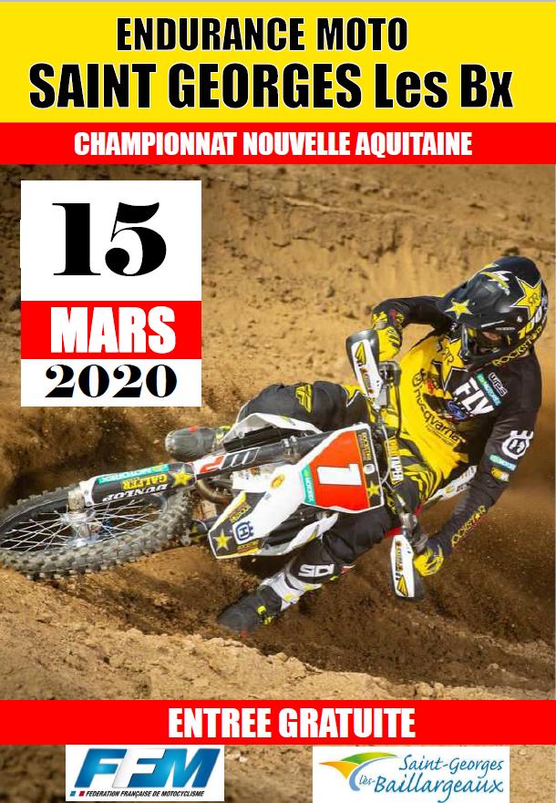 Infos Endurance TT - Epreuve St Georges de Baillargeaux (86) 15 mars