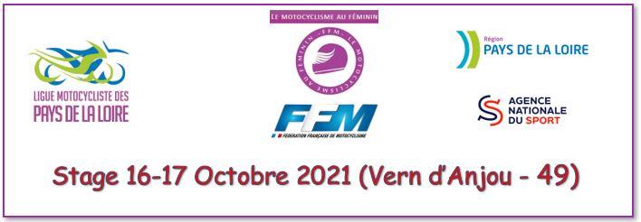 Info Ligue - Stage Féminin 16-17 Octobre 2021 - Vern d'Anjou